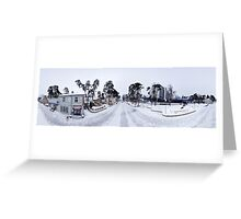 Jomas street panorama in winter, Jurmala, Riga, Latvia Greeting Card