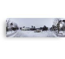 In the middle of the street pano, Riga, Latvia Canvas Print