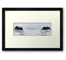 Winter on the beach panorma, Riga, Latvia Framed Print