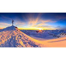 Beautiful view - Mölltaler Gletscher 3122 m in the Alps Photographic Print