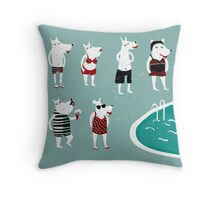 Retro swimsuits Throw Pillow