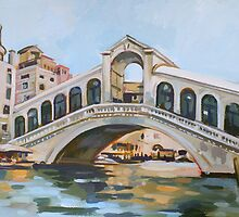 Rialto Bridge by painterflipper