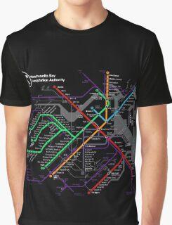 MBTA Boston Subway - The T Graphic T-Shirt