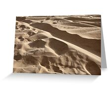 sand in the desert Greeting Card