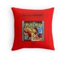 Pokemon Red Cartridge Throw Pillow