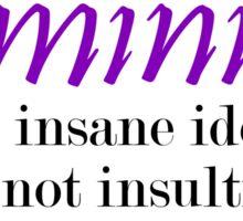 Feminist Idea Sticker