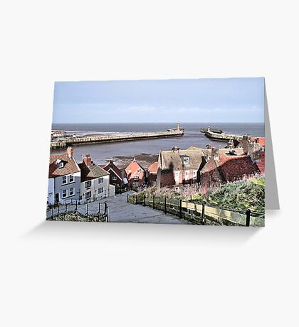 Harbour View. Whitby. Greeting Card