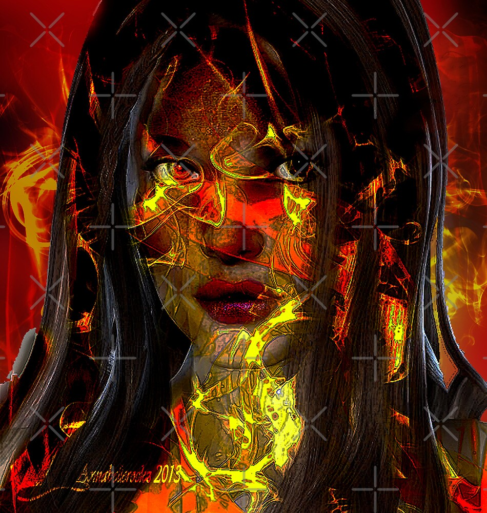 Girl n flames  by Annabellerockz