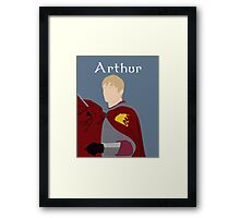 BBC Merlin - King Arthur Framed Print