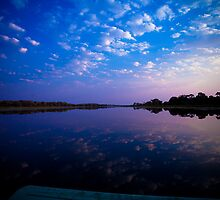 Okavango Boat Ride Sunset by IamPhoto