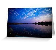 Okavango Boat Ride Sunset Greeting Card