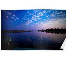 Okavango Boat Ride Sunset Poster