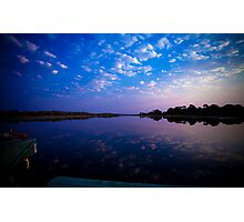 Okavango Boat Ride Sunset Photographic Print