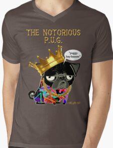 notorious pug Mens V-Neck T-Shirt