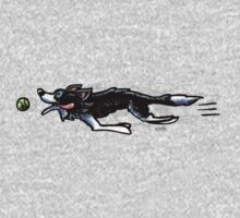 Border Collie in Action One Piece - Long Sleeve