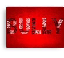 Bully - Typography poster Canvas Print