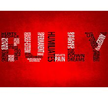 Bully - Typography poster Photographic Print