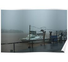 Monsoonal Rains ~ Johnstone River, Innisfail, Qld. Poster