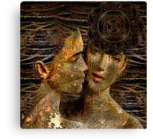 Fractal sisters Canvas Print