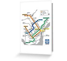 STM Montreal Metro - dark Greeting Card