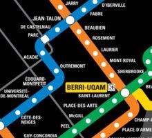 STM Montreal Metro Sticker