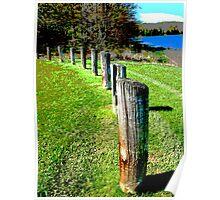 Fence at Hemlock Lake Poster