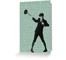Moritz Stiefel (And Then There Were None) Greeting Card