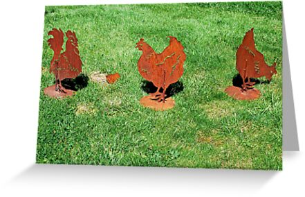 Rusty chickens by Arie Koene
