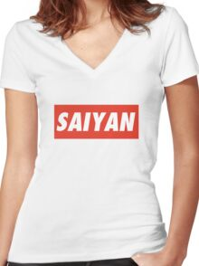 SAIYAN Women's Fitted V-Neck T-Shirt