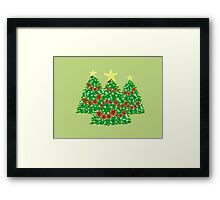 Poinsettia Trees Framed Print