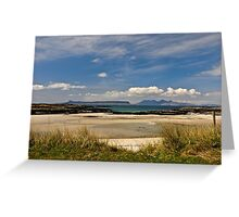 The Silver Sands of Arisaig . Greeting Card