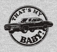 That's My Baby - Black Kids Tee