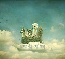 Never Stop Exploring The Sky by Monika Strigel