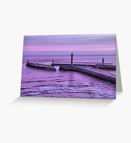 Sunrise over Whitby Greeting Card