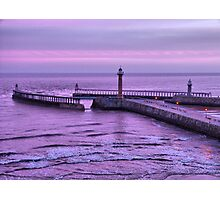 Sunrise over Whitby Photographic Print