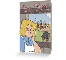 Be mine Valentines Greeting Card