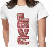 Words of Love Womens Fitted T-Shirt