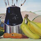 Surreal Fruit Vegetable Still Life with Sheep by MikeJory