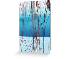 Foggy Day Willow Greeting Card