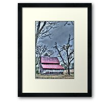 HDR - Double Roof Barn Framed Print