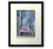 HDR - Barn and Trees Framed Print