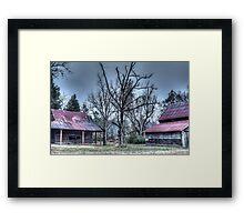 HDR - Tree and Barns Framed Print