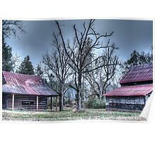 HDR - Tree and Barns Poster