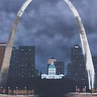 St. Louis Arch at night by John Marcum