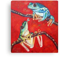 tree frogs in love Canvas Print