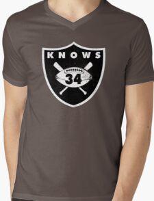 """VICTRS """"34 Knows""""  Mens V-Neck T-Shirt"""