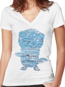 Oshawott used Scald Women's Fitted V-Neck T-Shirt