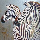 silver zebras by Gill Bustamante