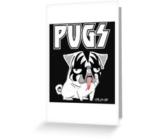 kiss pug Greeting Card