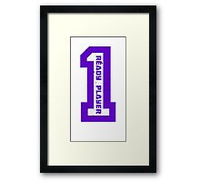 Ready Player One Number Purple Framed Print
